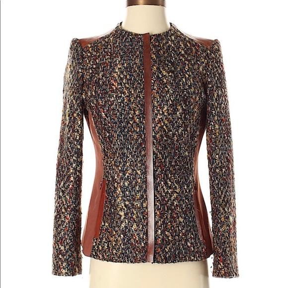 Lafayette 148 New York Jackets & Blazers - Lafayette 148 😍Multi -Color Tweed Zip Jacket Sz 8